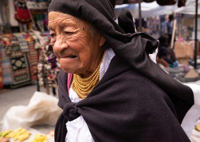 Old indigenous woman in Ecuador