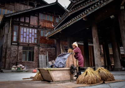 Worker in Zhaoxing - Guizhou