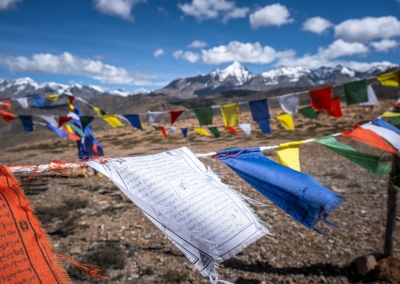 TIBETAN FLAGS IN SPITI VALLEY