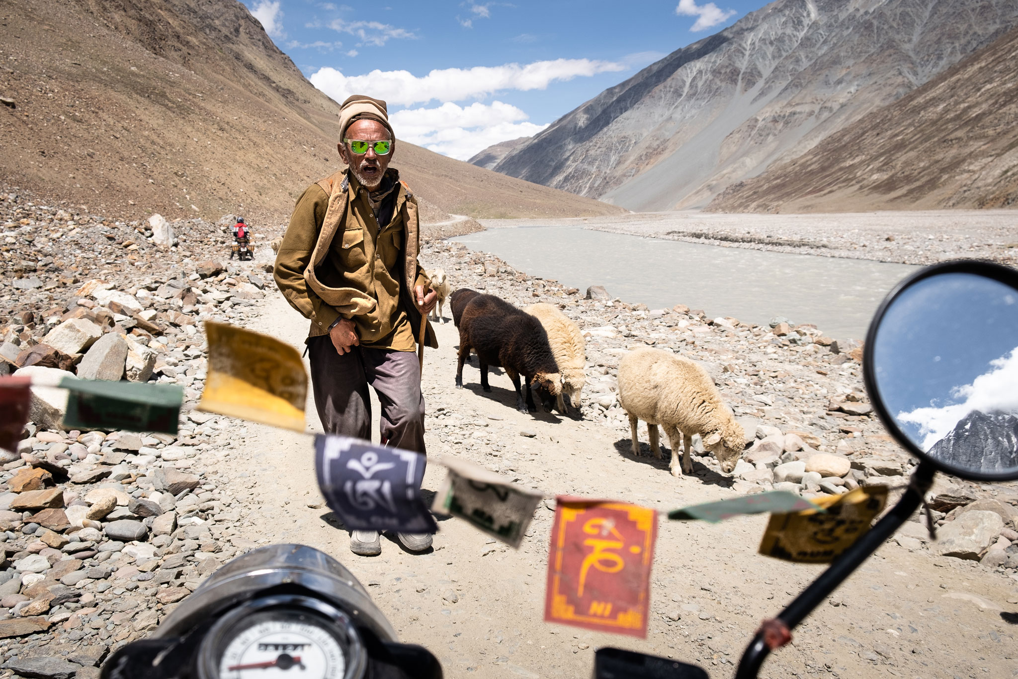 MEETING WITH INDIAN SHEPHERD IN THE SPITI VALLEY