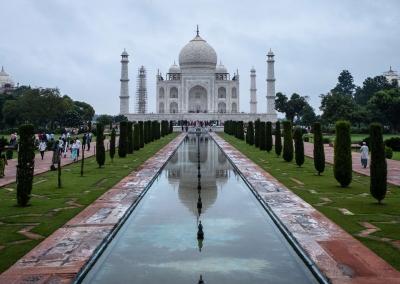 Classic view of Taj Mahal