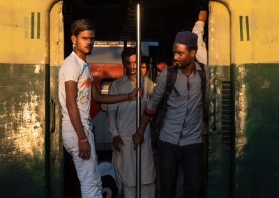 Indian people in the train