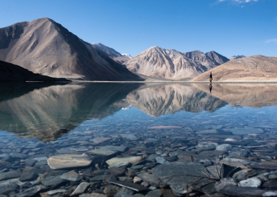 Pangong lake reflection