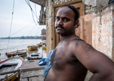 Man on the ghats - Varanasi