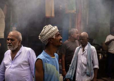 Smoke from burning ghats - Varanasi
