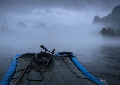 Bamboo-boat-li-river-night