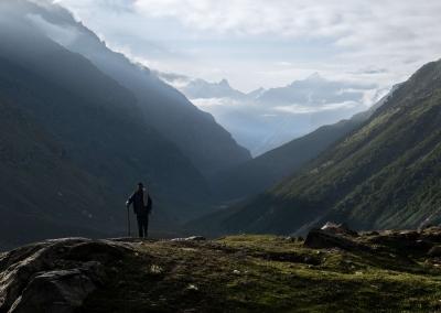 Shepherd at sunrise - Spiti Valley