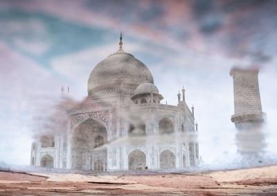 Reflet-Taj-Mahal
