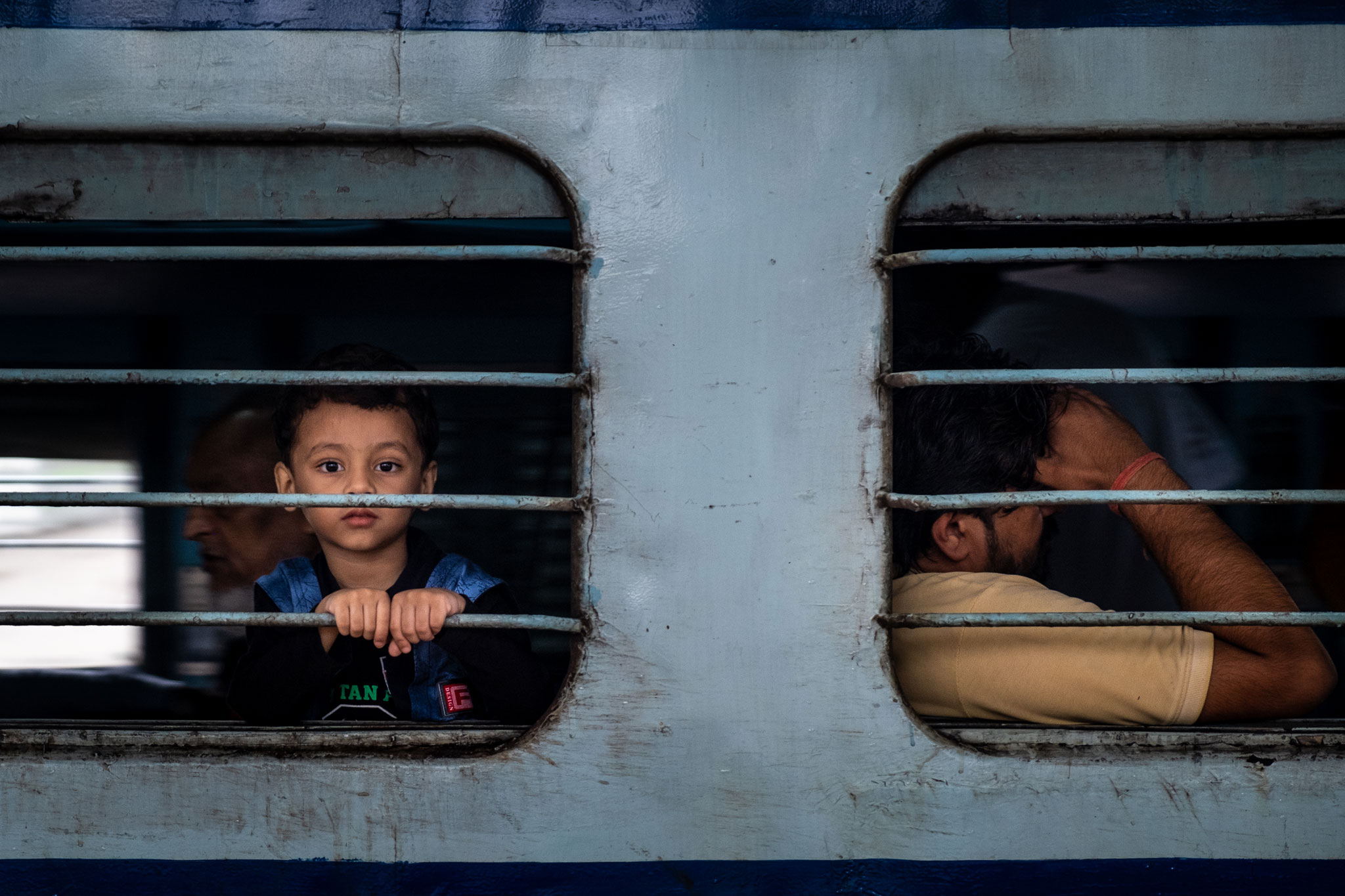 INDIAN BOY IN THE TRAIN