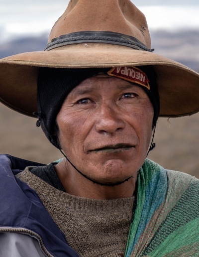 PORTRAIT OF A QUECHUA IN THE PERUVIAN ANDES