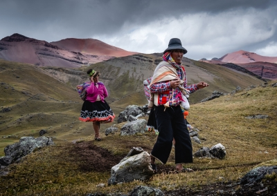 QUECHUA COUPLE IN THE ANDES