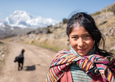 QUECHUA GIRL GOING TO SCHOOL
