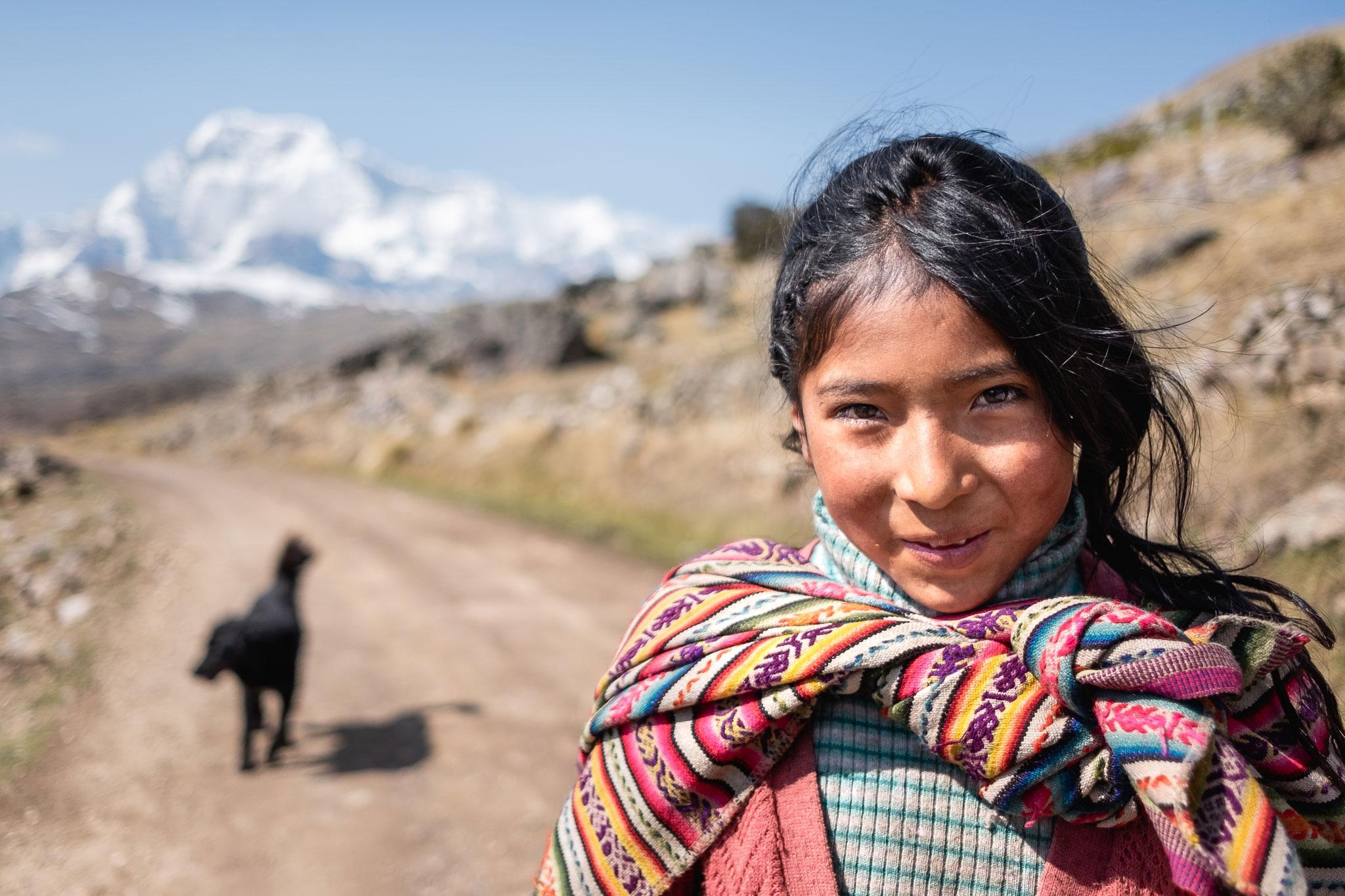 QUECHUA GIRL GOING TO SCHOOL