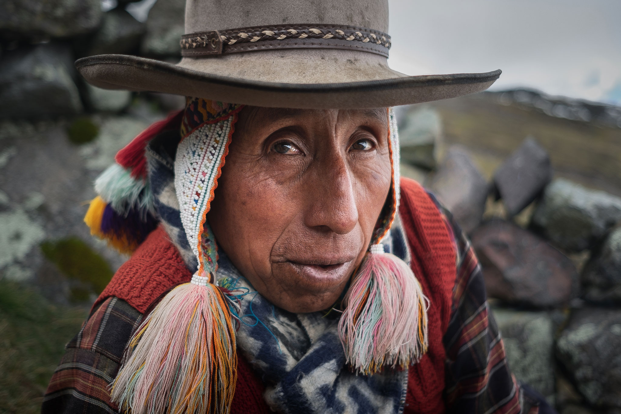 QUECHUA MAN FROM THE AUSANGATE REGION IN PERU