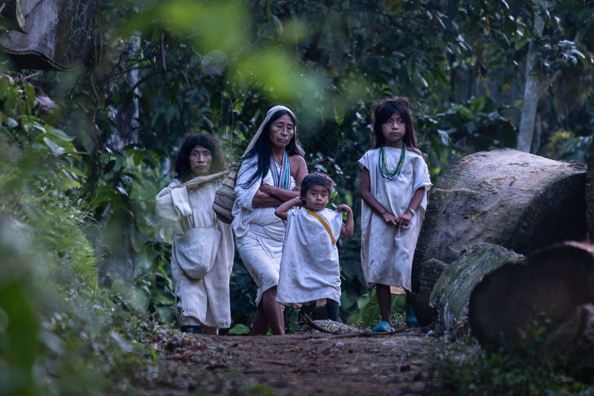 KOGI INDIGENOUS FAMILY IN THE SIERRA NEVADA DE SANTA MARTA
