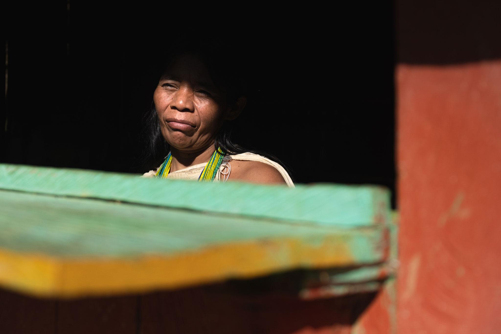 WIWA WOMAN IN THE SIERRA NEVADA DE SANTA MARTA