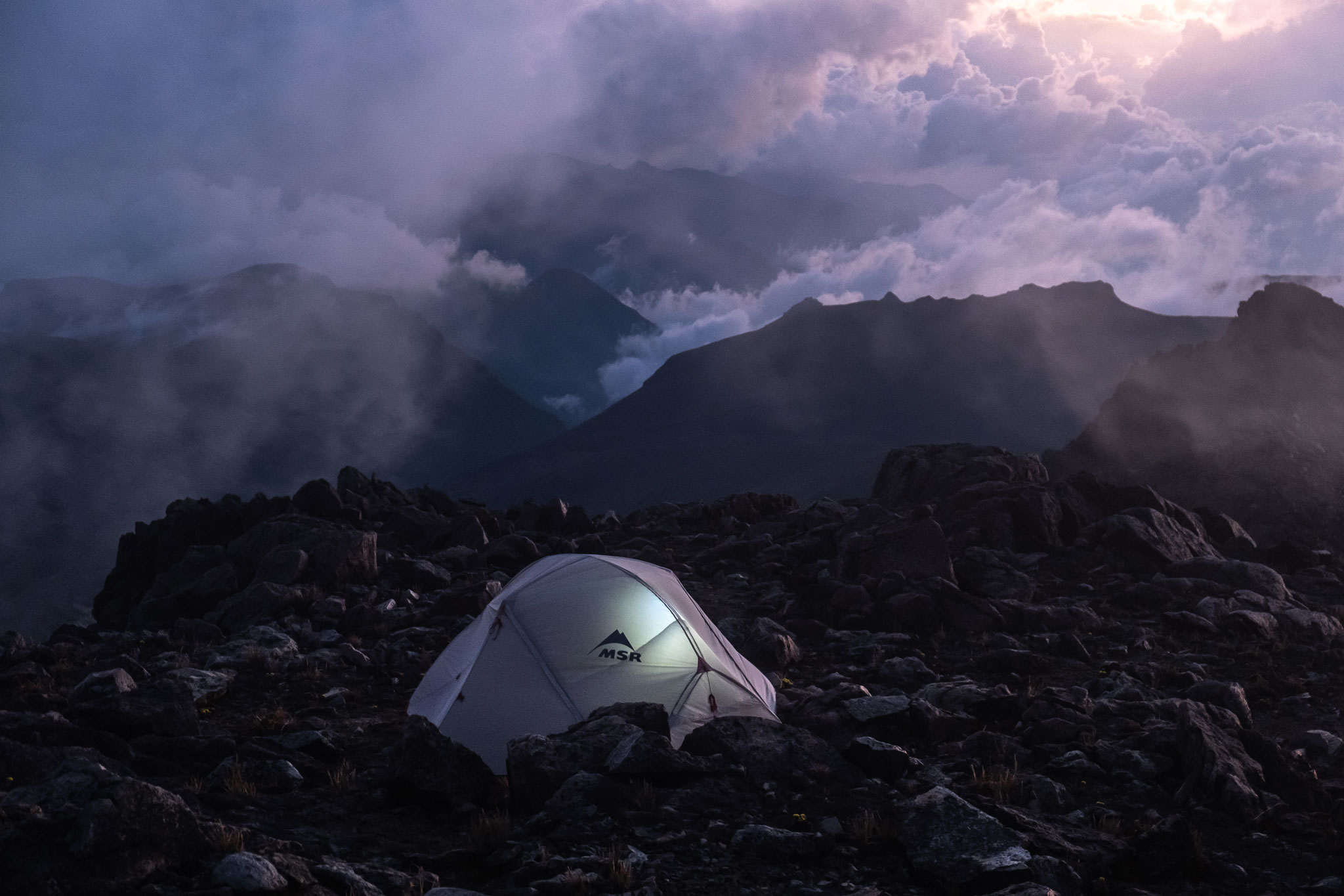 CAMPING IN REMOTE PART OF THE ANDES