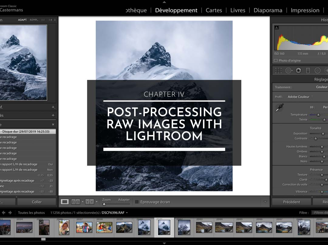 CHAPTER IV : POST-PROCESSING RAW IMAGES WITH LIGHTROOM