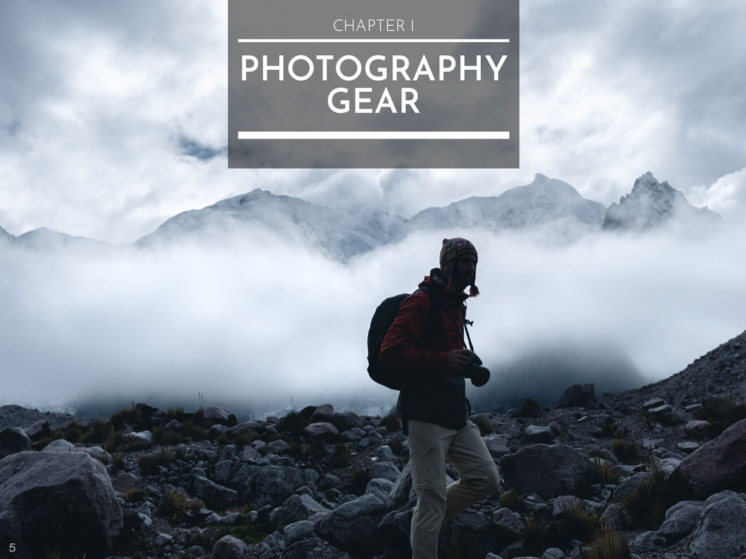 CHAPTER I : PHOTOGRAPHY GEAR