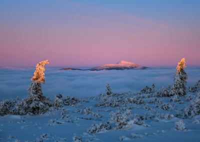 Babia-gora-sunset