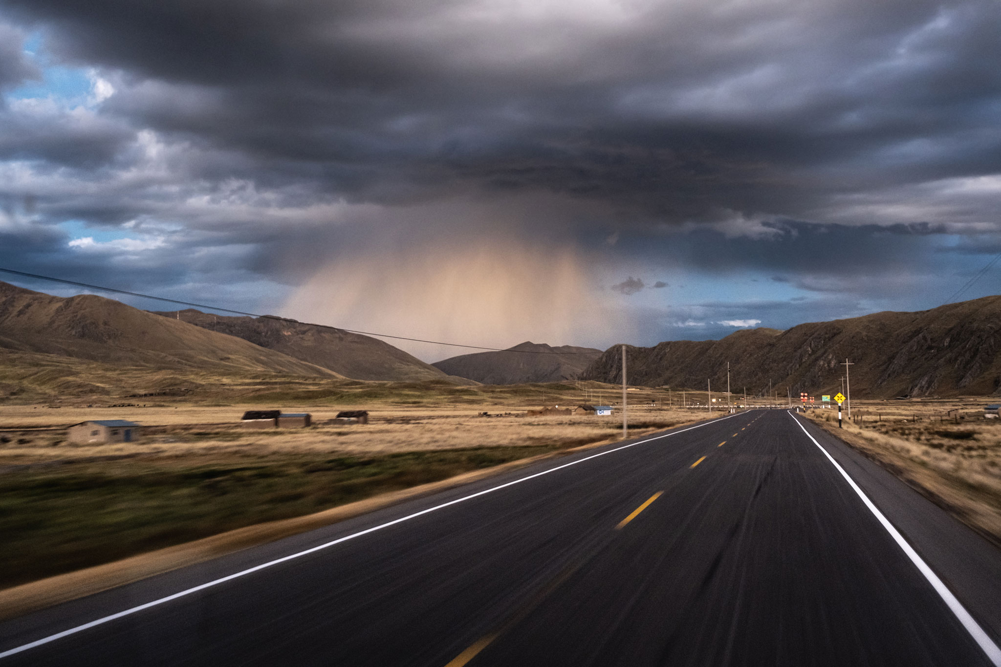 STORM ON THE ROAD - PERUVIAN ANDES