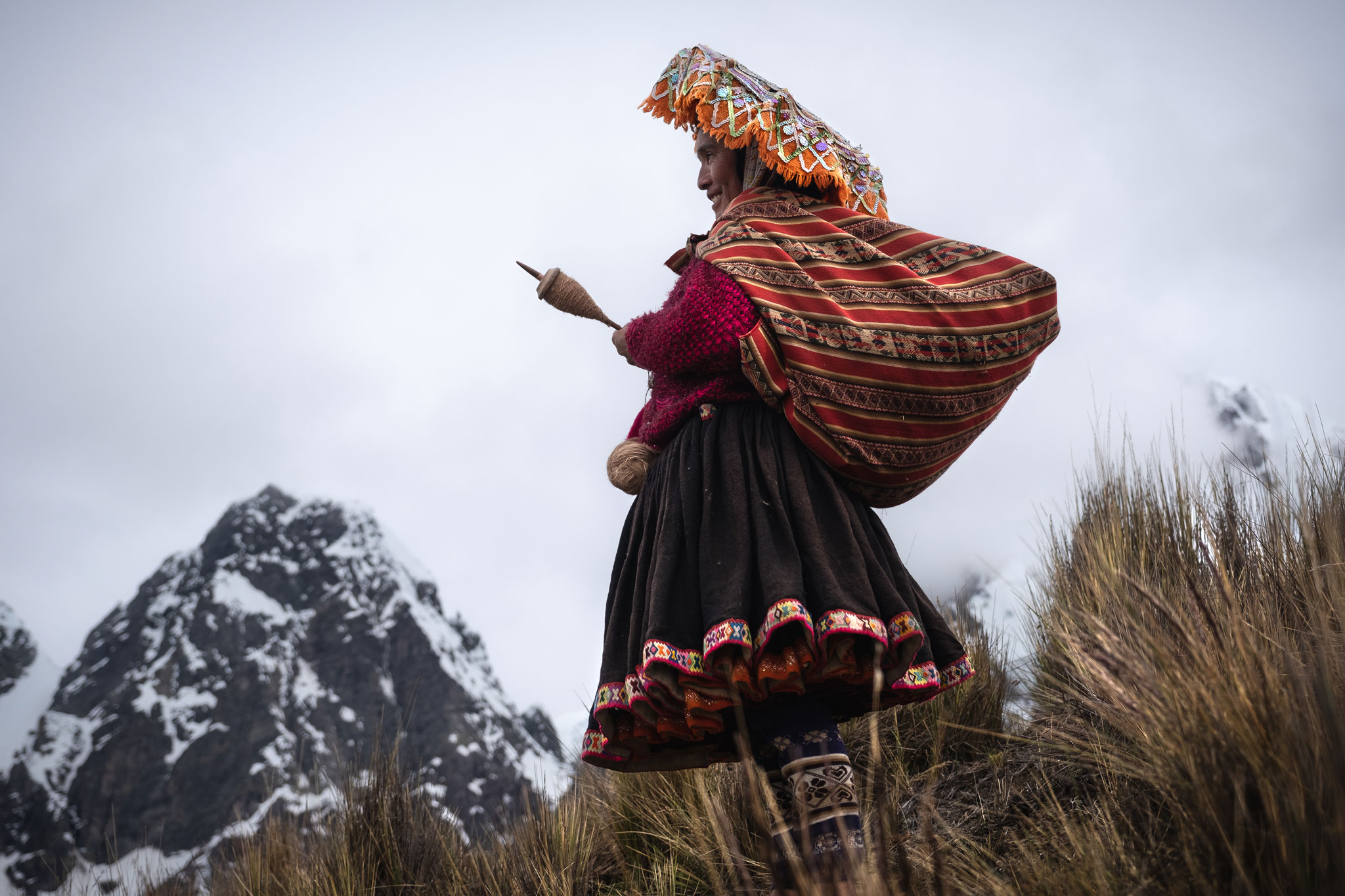 QUECHUA WOMAN FROM THE AUSANGATE
